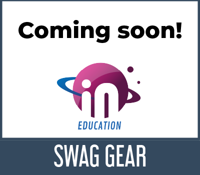 iN Education logo for swag gear