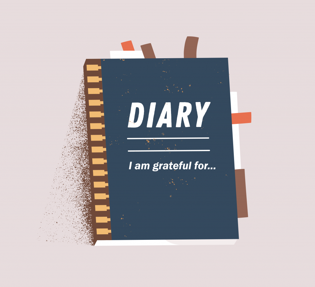 An illustration of a diary or a personal journal.