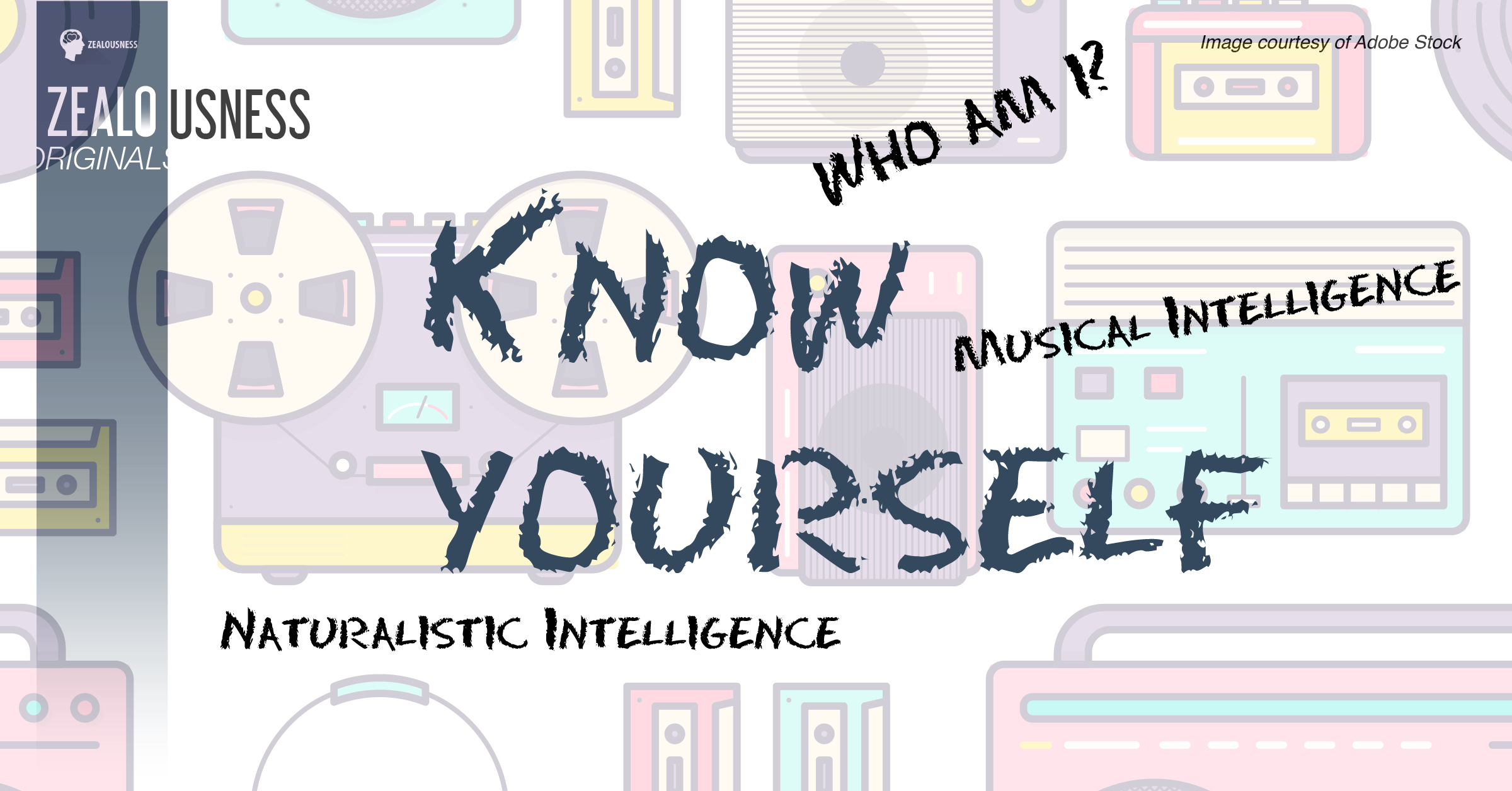 "Words ""Know yourself"" are written across the image with an illustrated background."