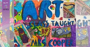 Painting for Mrs. Cooper's class done by Dominic R. at Towslee Elementary