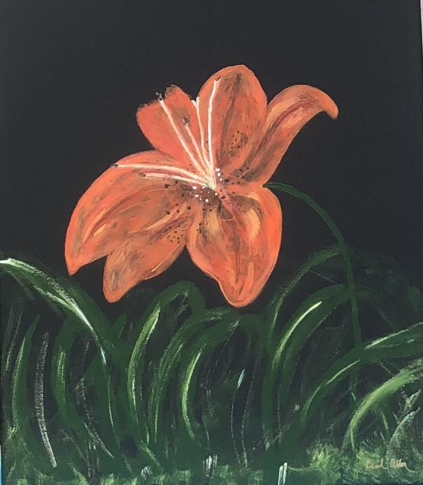 Pretty Peach, Summer Lily by Carol Allen