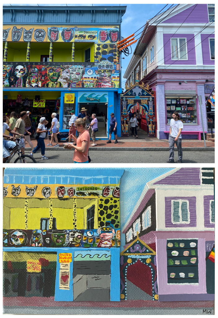Provincetown Buildings collage by Maris Walter