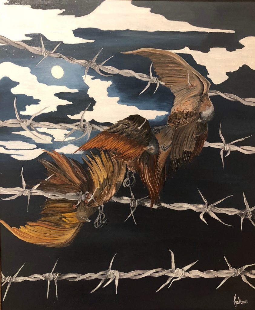 """Figure 1 Title of Painting: """"Freedom"""" By Fatima Matar"""