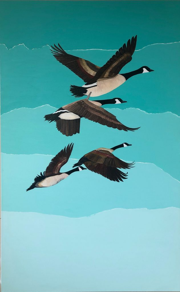 """Figure 6 Title of Painting: """"Geese"""" By Fatima Matar"""