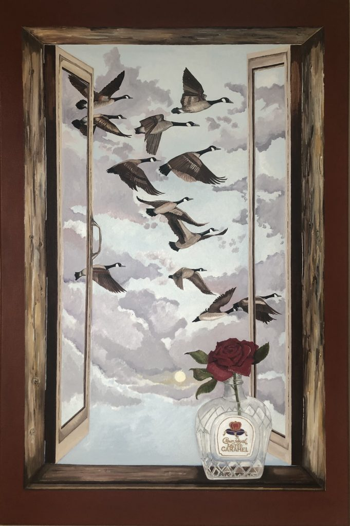 """Figure 10 Title of Painting: """"Geese"""" By Fatima Matar"""